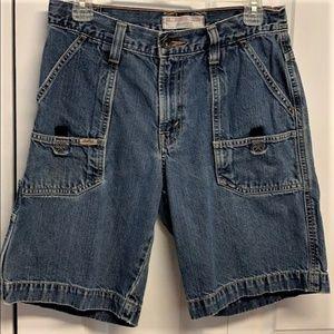 Levi's Utility Shorts Size 12 Husky faded Denim